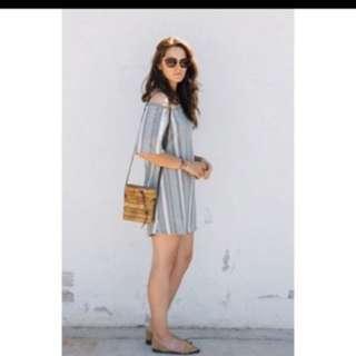Zara off shoulder striped dress