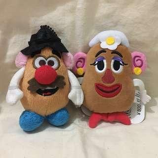薯蛋頭先生&太太 掛飾一對