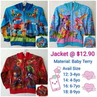 1for$12.90 My Little Pony Avengers Tayo Kids Jacket