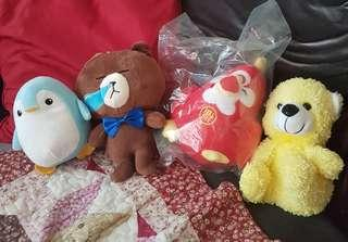 Soft Toys - all 4