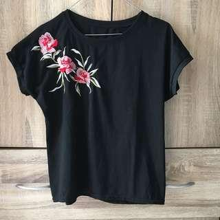 Black embroidered top (Bangkok)