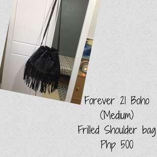 Forever 21 Frilled Leather Bag
