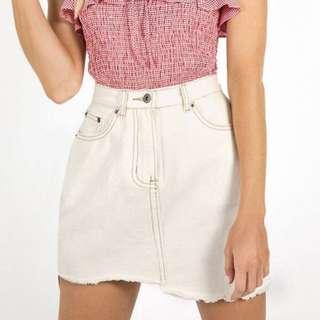 Denim white skirt