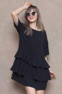 YHF Tiered High Shirt Dress in Size S