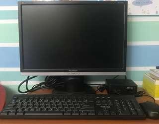 桌電 電腦 Msi 微星 cubi 小主機 viewsonic 螢幕 鍵盤滑鼠
