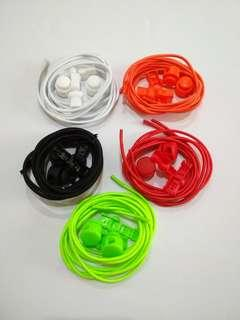 New - Elastic Lock Lace (Assorted Colours)
