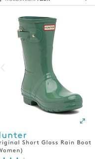 Hunter USA 購 Hunter green Original Short Gloss Rain Boot (Women) 水靴