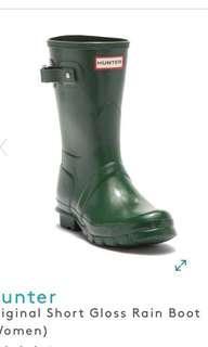 USA 購 Hunter green Original Short Gloss Rain Boot (Women) 水靴