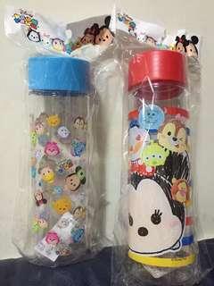 迪士尼 Disney Tsum Tsum 水樽 水壺 hkd 30 兩個 全新
