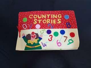 Counting Stories Cloth Book Ages 2 years old and above