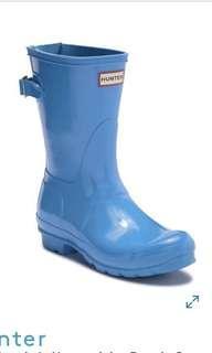 Hunter blue Original Adjustable Back Strap Glossy Boot