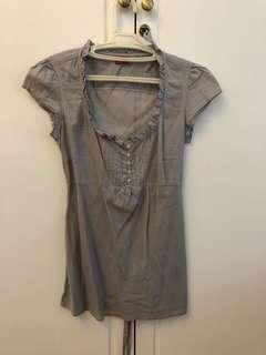 Esprit Gray Top - Free Shipping