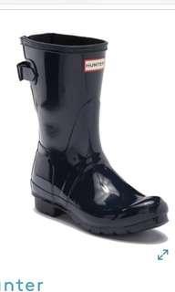 Hunter Original black Adjustable Back Strap Glossy Boot Rain Boots