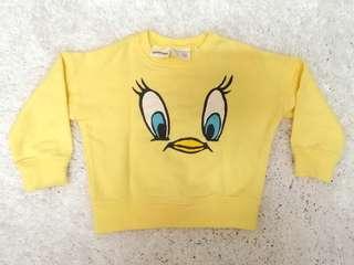 ZARA BabyGirl tweetie bird sweatshirt