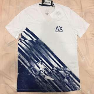 【咪嚕柯】短T Tshirt 衝浪 V領 正品 AX Armani Exchange 亞曼尼