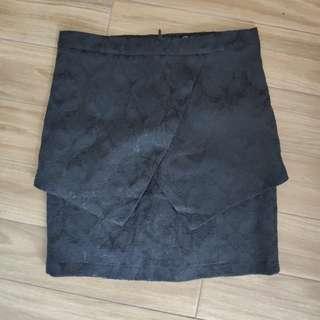 Zalora something borrow black skirt