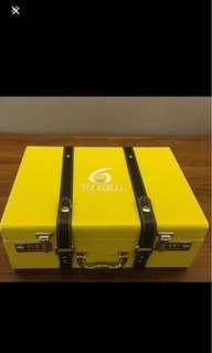 Retro yellow briefcase