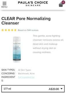 Paula's Choice Clear Pore Normalising Cleanser
