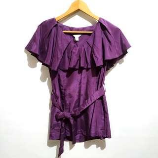 Purple flare blouse