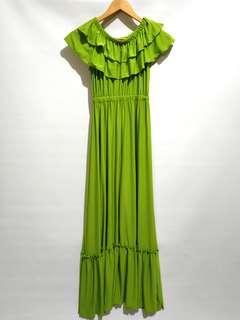 Greenlime sabrina dress
