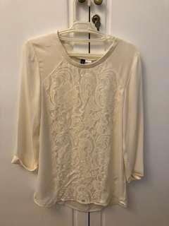 H&M cream lace top - free shipping