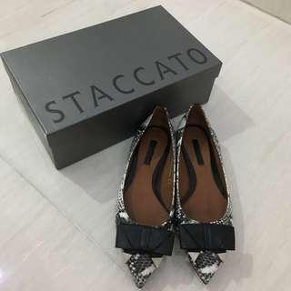 REPRICE !!! Brand New Staccato Snakeskin Flats (Brand New) (Sepatu Wanita) (Branded) (Authentic)