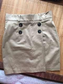 Korean khaki skirt