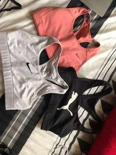 Nike and puma sports bras