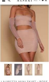 Meshki pink mini skirt