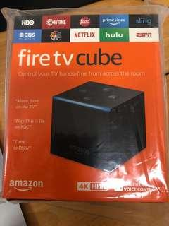 🚚 New (Open Box &tested) Fire Tv Cube 4K HD streaming with Alexa Speaker and voice