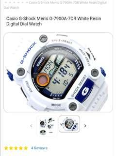 """SALE"" G-Shock Men's G-7900A-7DR White Resin Digital Dial Watch"