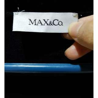 Jual dress cewek merek Max&Co warna hitam