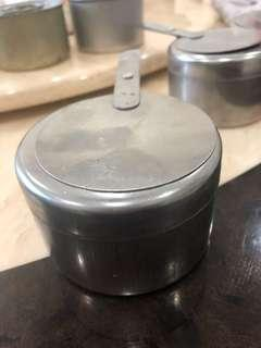 Stainless steel food container candle holder (4 units)
