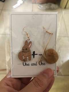 兔仔耳環 包本地平郵