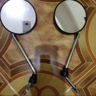 authentic vintage style motorcycle side mirrors.