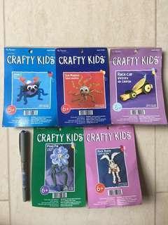 Bundle set of 5 Crafty Kids Handicrafts