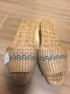 草織拖鞋(日本購入)not muji 無印良品