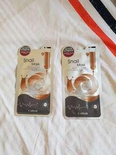 Korean Snail Masks (x2)