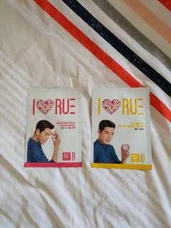 I Love Rue Korean Masks (x2)