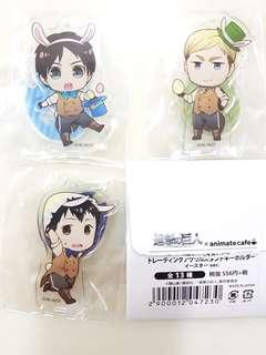 🌟Instock🌟Attack on Titans animate cafe easter egg acrylic standee keychains