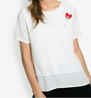 "*SALE* ""ForMe"" White Blouse/ White Top"