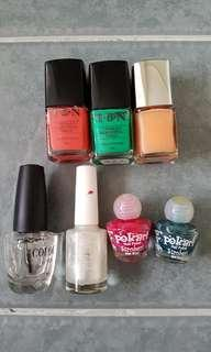 Assorted nail polish (including Witchery)