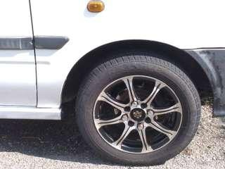 Sport rim with tyre