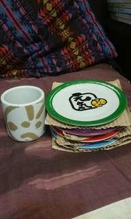 元氣寿司碟及茶杯