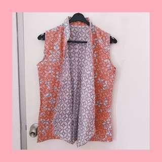 Batik vest 2 side