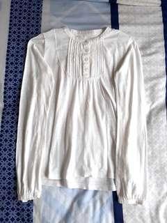 White Longsleeved Buttonned Shirt