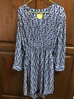 Electric Blue Bohemian Pattern Dress