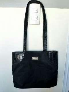 *Crazy Sale*  Black Shoulder Bag/ Crocodile  bag