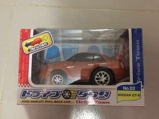 罕有 Drive Town 回力車 Nissan GTR35 (橙金閃底)/ 非TOMICA Hotwheels Tarmac Tiny