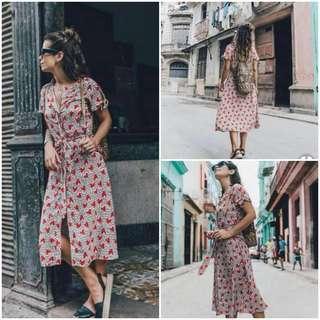 🌞Overlap Maxi heart dress